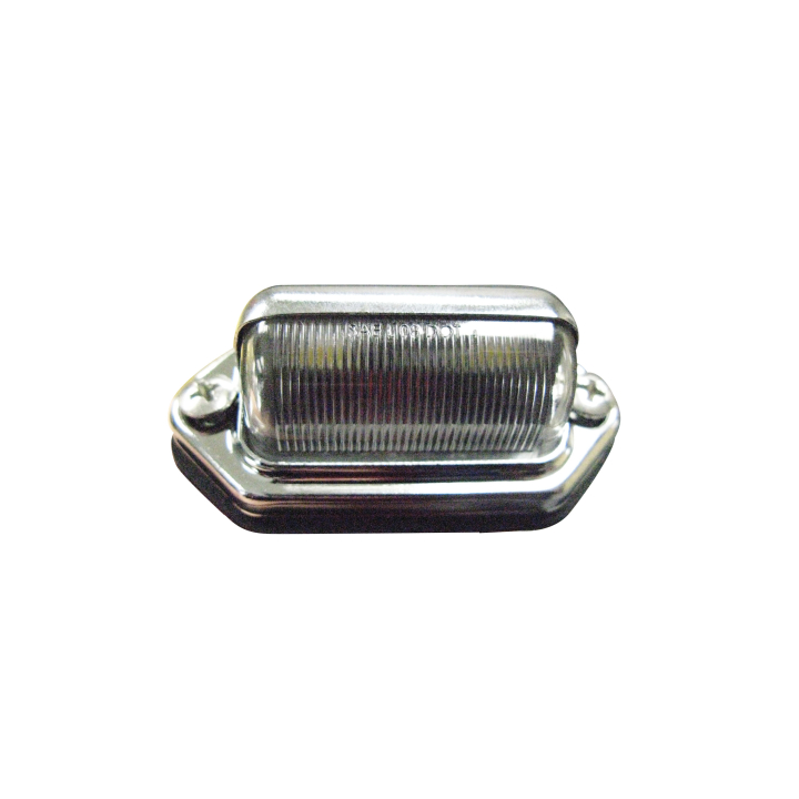 127-66800B <BR />1″x 2.5″  L.E.D. Licence / Utility Light with Chrome Base