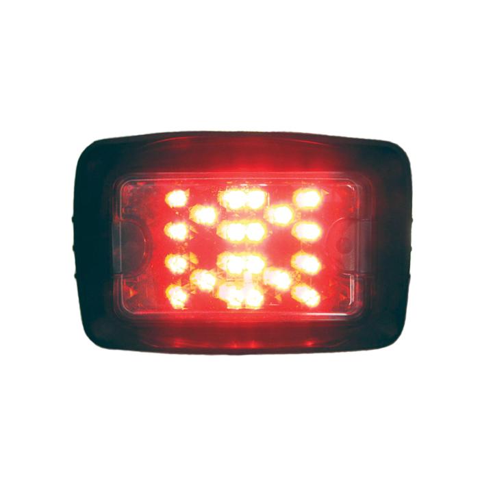 """128-504L55R <BR /> 4.5""""x 6.75"""" L.E.D. Red Log Light"""