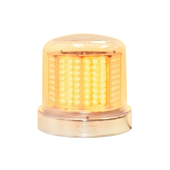 "126-67024ACL-8 <BR />8"" H.D. L.E.D. Amber Clear Warning Beacon Strobe"