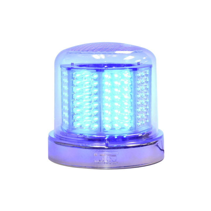 "126-67024BCL-8 <BR />8"" H.D. L.E.D. Blue Warning Beacon Strobe"