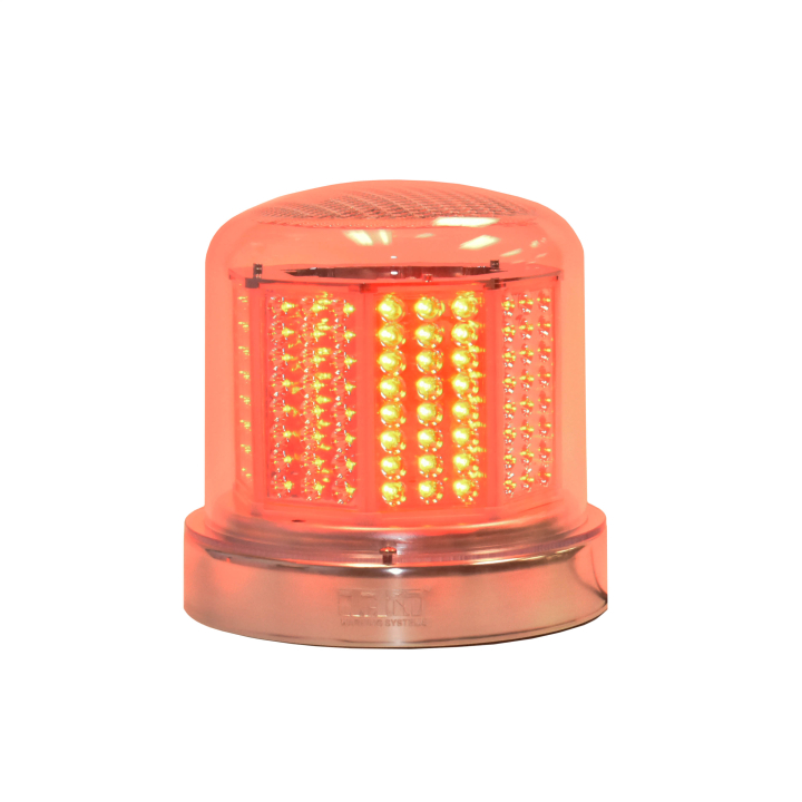 "126-67024RCL-8 <BR />8"" H.D. L.E.D. Red Clear Warning Beacon Strobe"