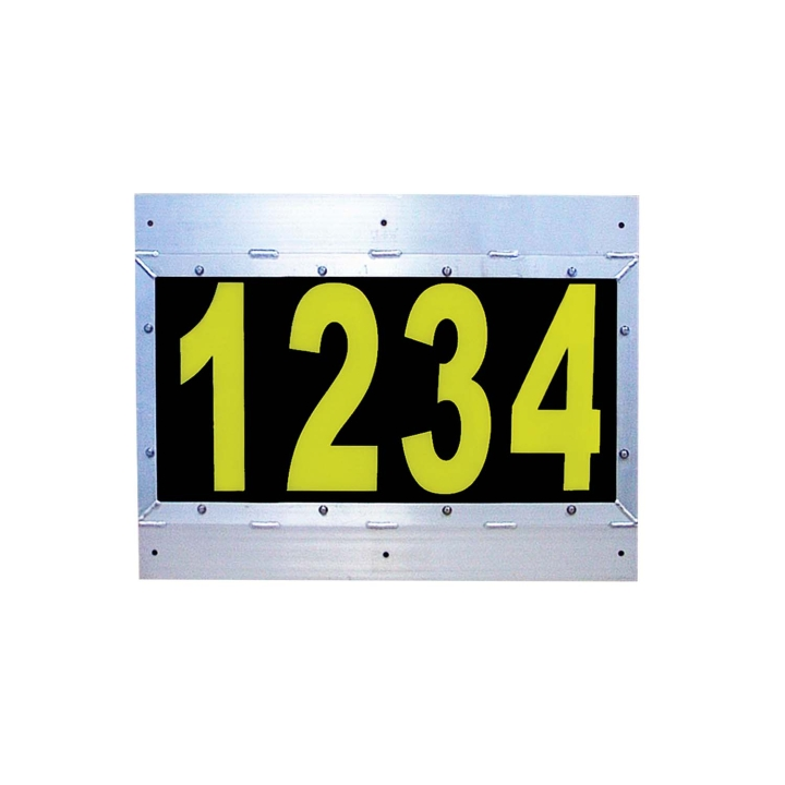 "126-67027WXVC-4 <BR />26""x 34"" L.E.D. Backlit Four Numeric Sign Board"