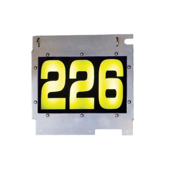 "126-67030C <BR/>25""x 24"" L.E.D. Backlit Three Digit Numeric Sign Board"