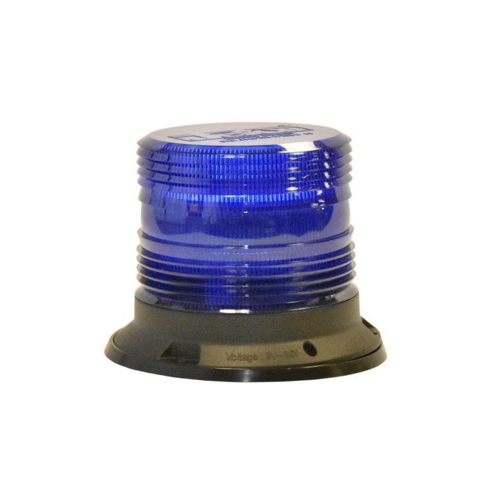 "126-67089B <BR />5"" H.D. L.E.D. Blue Warning Beacon Strobe"