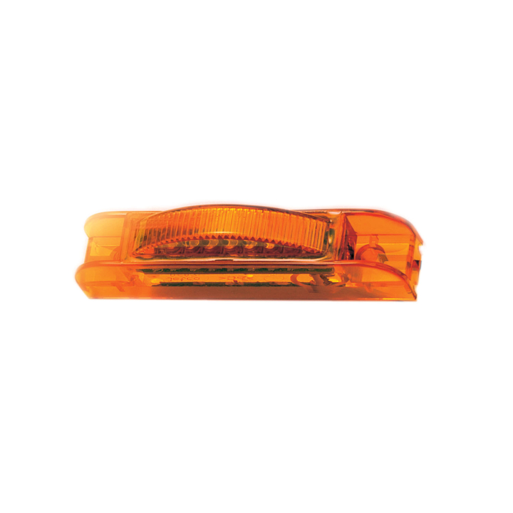 "127-18000A <BR /> 0.75"" x 4"" Rectangular  L.E.D. Sealed Marker Lamp &#8211; Amber"
