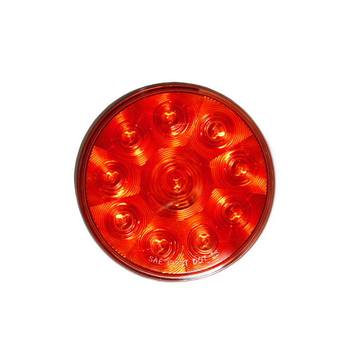 "127-40010RB  (Bulk)<BR /> 4"" Round ""Compact CountTM"" L.E.D. Sealed Lamp – Red"