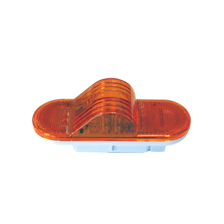 "127-40073A <BR /> 6"" x 2"" Oval ""Compact CountTM"" – Amber"