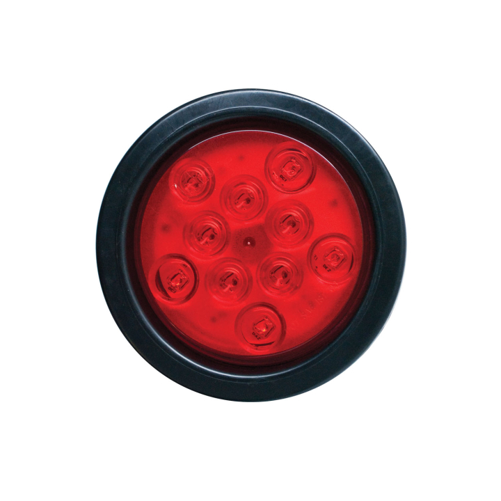 "127-40010KR (Kit)<BR /> 4"" Round ""Compact CountTM"" L.E.D. Sealed S/T/T Lamp – Red"