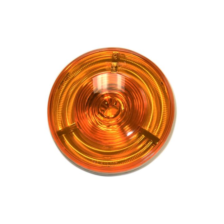 "127-40607A <BR /> 4"" Round ""HelixTM"" 3-D L.E.D. Sealed S/T/T Lamp – Amber"