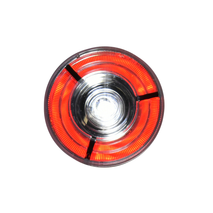 "127-40607RWB (Bulk)<BR />4"" Round 3D Helix L.E.D. S/T/T Lights Red/White"