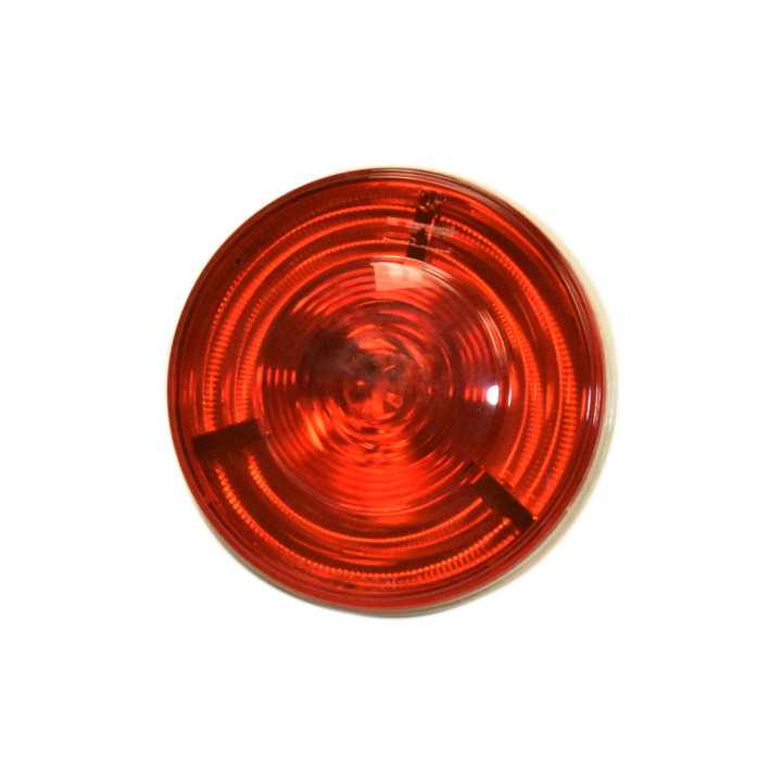 "127-40607R<BR /> 4"" Round ""HelixTM"" 3-D L.E.D. Sealed S/T/T Lamp – Red"