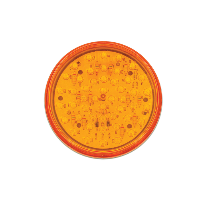 "127-43002A <BR /> 4"" Round ""Maximum CountTM"" L.E.D. Sealed Lamp &#8211; Amber"
