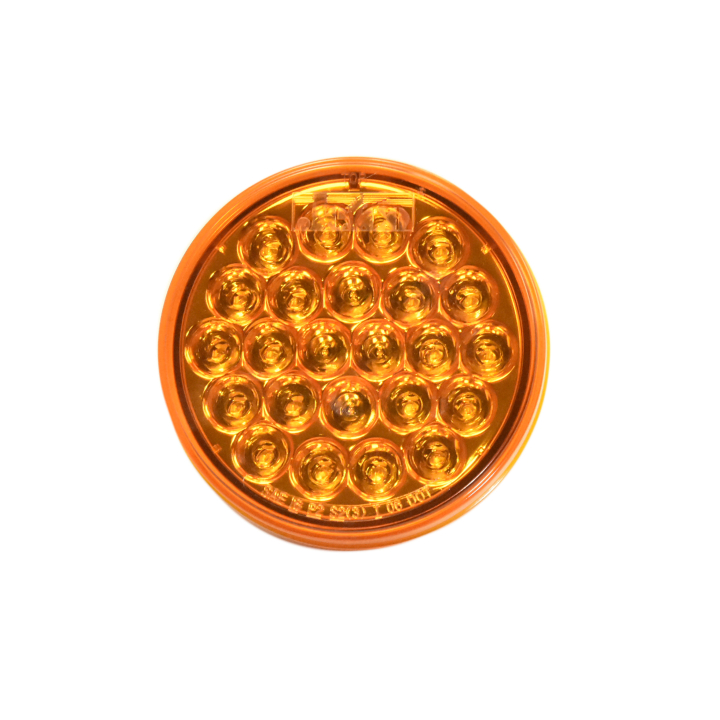 """127-44050A <BR /> 4"""" Round """"Maximum CountTM"""" L.E.D. Sealed Lamp – Amber"""