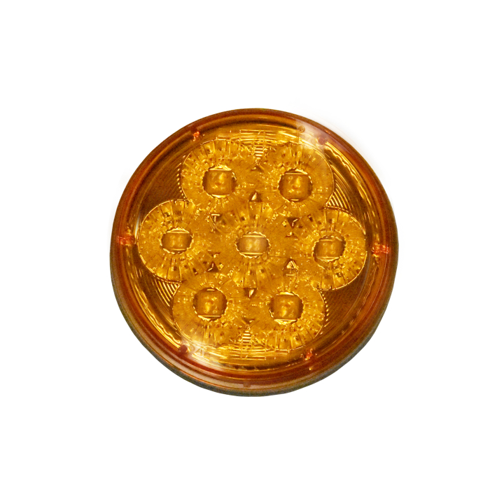 "127-45070AB (Bulk)<BR /> 4"" Round ""Compact CountTM"" L.E.D. Sealed S/T/T Lamp – Amber"