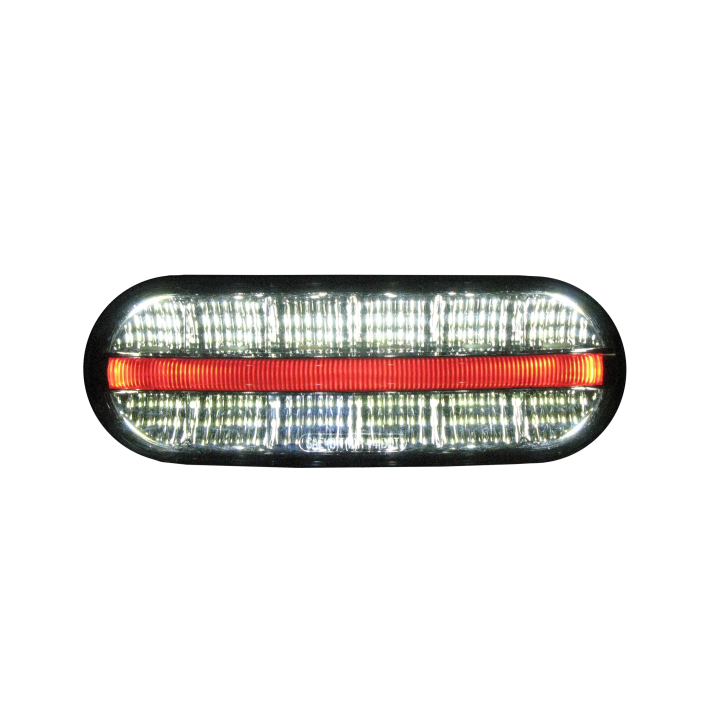 "127-60607RW <BR />6""x2"" Oval 3D Helix L.E.D. S/T/T Lights Back-Up & Tail Light"