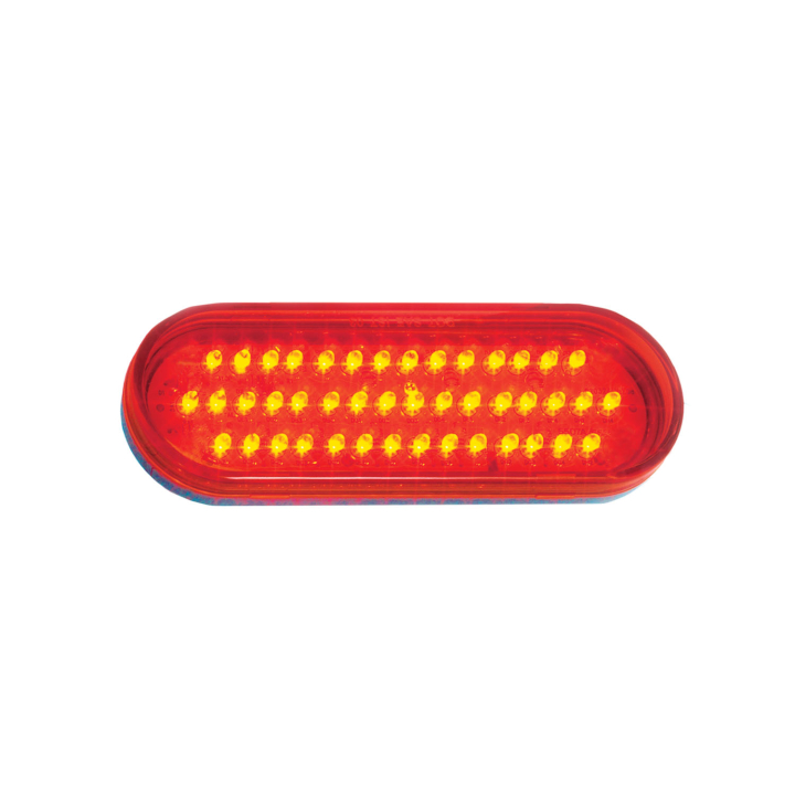 "127-63002 <BR /> 6"" x 2"" Oval ""Maximum CountTM"" L.E.D. Sealed Lamp – Red"