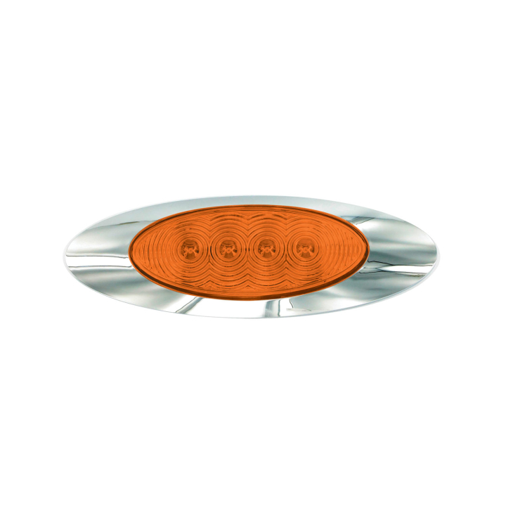 """127-66025A <BR /> 2.25"""" x 6.5"""" Panel Style """"Compact CountTM"""" L.E.D. – Amber"""