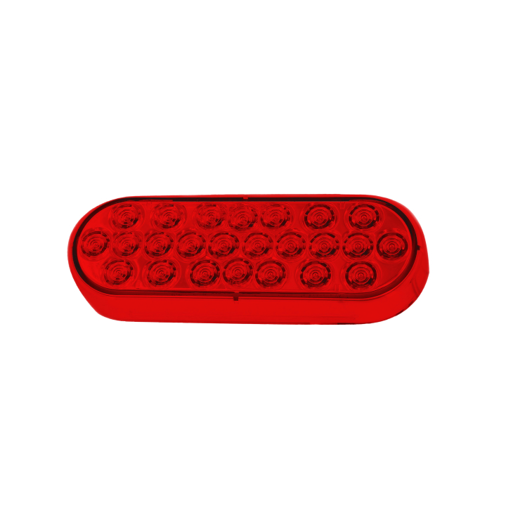 "127-66050R <BR /> 6"" x 2"" Oval ""Maximum CountTM"" L.E.D. Sealed Red Tail Light"