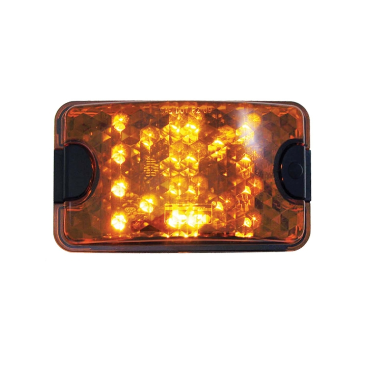 """127-66055A <BR /> 4""""x 6"""" Amber Rectangular L.E.D. Sealed Lamp with Switch"""