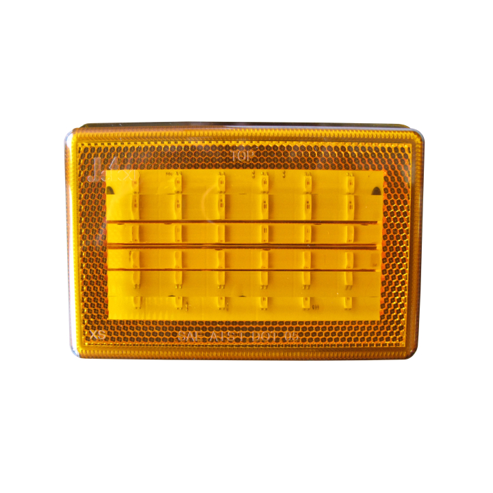 "127-66077AXV-4 <BR /> 3""x 5"" Rectangular Reflectorized L.E.D. S/T/T Sealed Lamp &#8211; Amber"