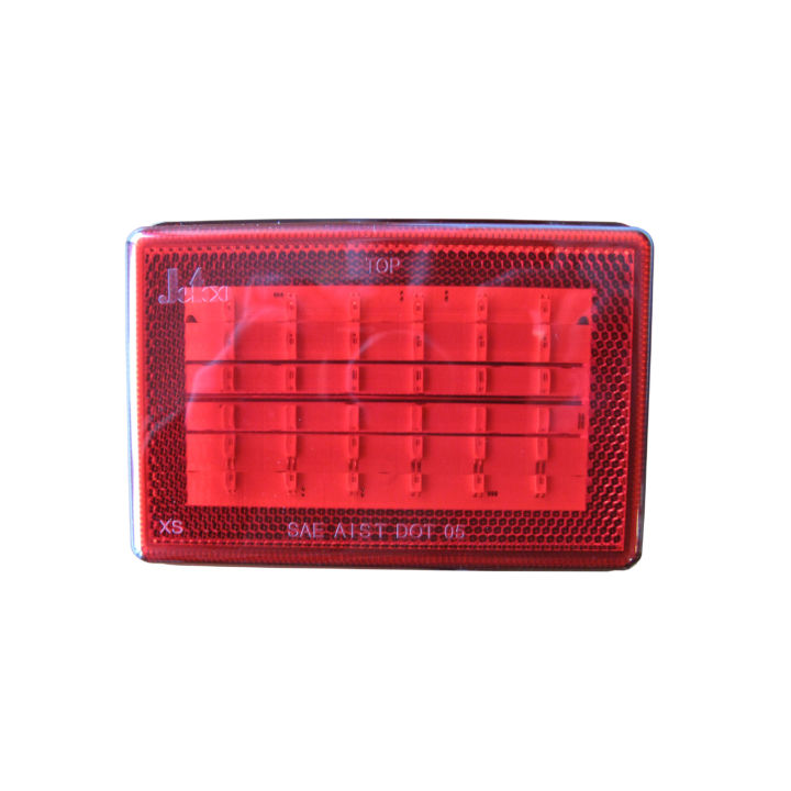 "127-66077RXV-4 <BR /> 3""x 5"" Rectangular Reflectorized L.E.D. S/T/T Sealed Lamp – Red"