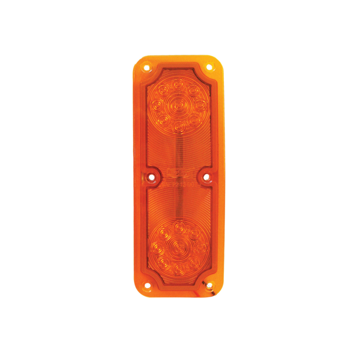 "127-66093A <BR /> 6.5""x 2.5"" ""Maximum CountTM"" L.E.D. Sealed Mirror Marker Lamp – Amber"