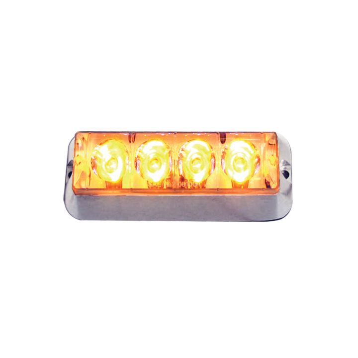"127-66766ACL <BR /> 4.5""x 3.5"" L.E.D. Amber High-Intensity Warning Lamp"