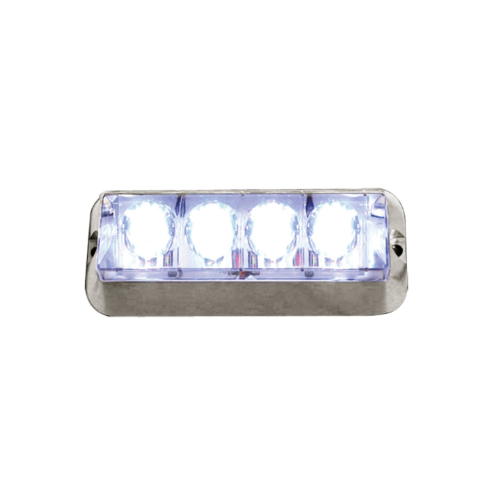 "127-66766W <BR /> 4.75""x 2"" L.E.D. White High-Intensity Warning Lamp"
