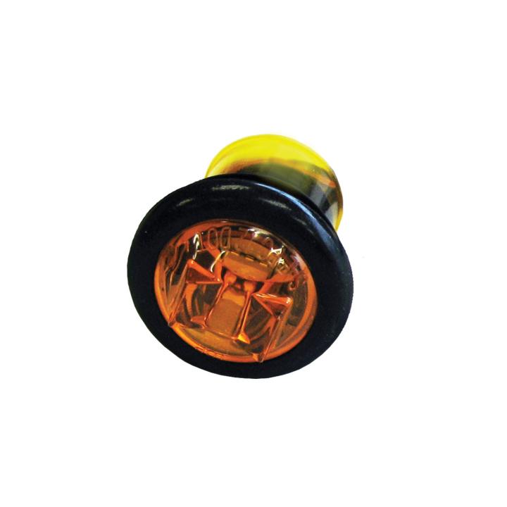 """127-66793AB (Bulk)<BR /> 0.75"""" L.E.D. Bullet Marker Light with Grommet Mount – Amber"""