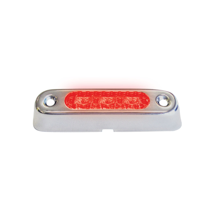 127-66810RCLB (Bulk)<BR /> 0.75&#8243;x 3.5&#8243; Red Clear L.E.D. Marker Lamp Kit