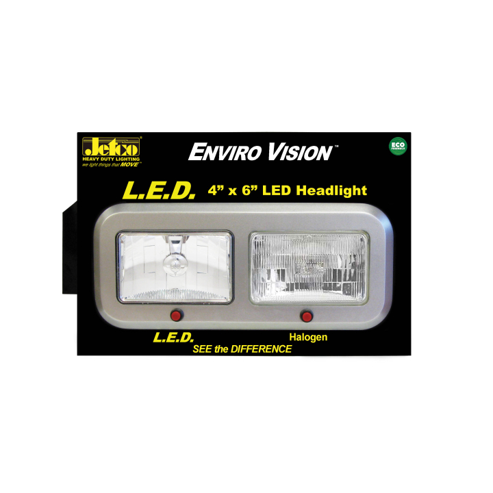 900-LEDHL-CDB <BR /> L.E.D. Headlight Countertop Display