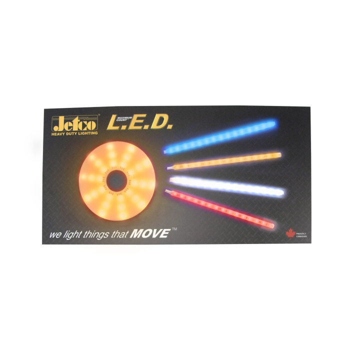 "900-1224-STRP <BR /> 12""x 24"" L.E.D. Strip Lighting Display Board"