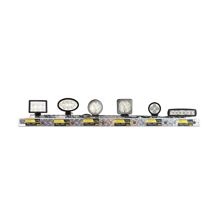 900-AL4-BD300 <BR /> 4' Black Diamond Lighting Display Shelf