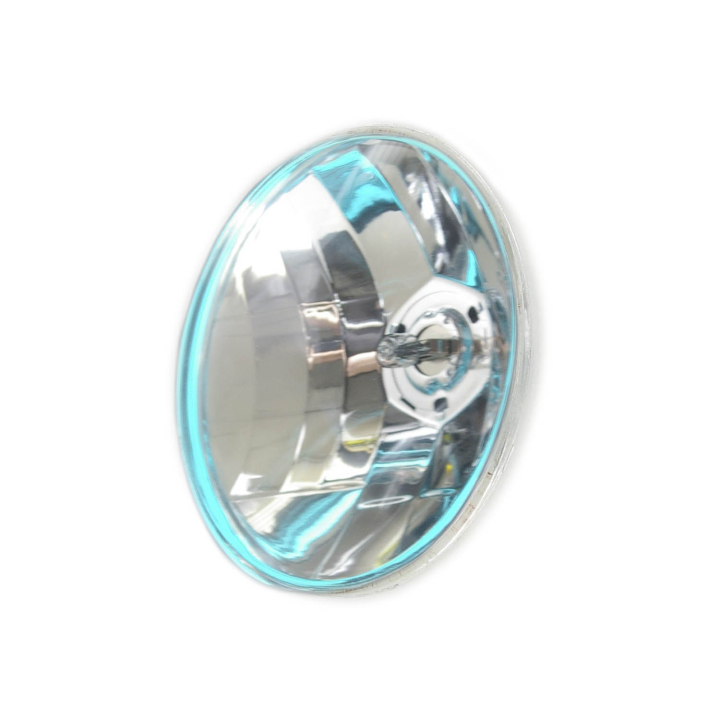 "123-33114 <BR /> 5"" Round (Par 36) Semi-sealed Beam with Iridescent Blue Glowing Ring"