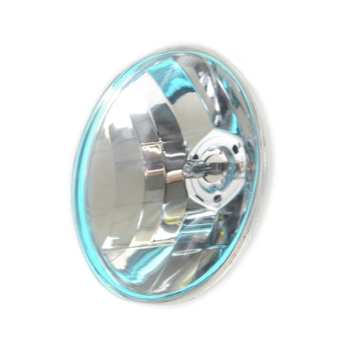 "123-33115 <BR />6"" Par 46 Semi-Sealed Beam with Iridescent Blue Glowing Ring"