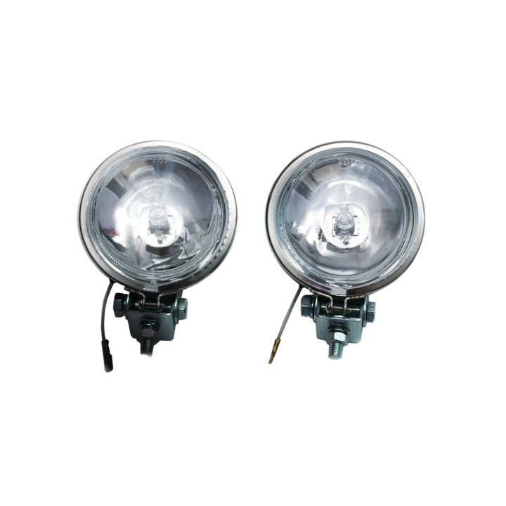 "123-S888SS <BR />3.5"" Round Halogen Spot Light Set in Stainless Steel Housing"