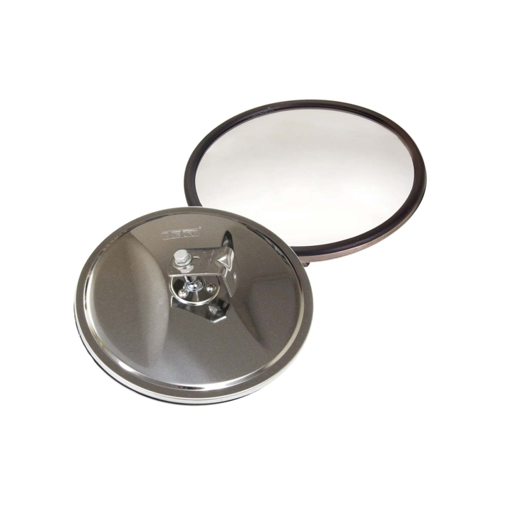 "124-6306B <BR />6"" Stainless Steel Convex Mirror with Center Mount"