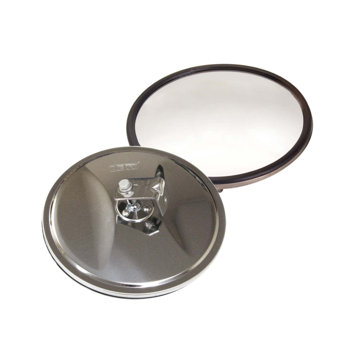 "124-6408B <BR />8"" Stainless Steel Convex Mirror – Center Mount"