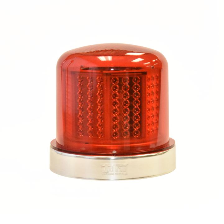 "126-67024R <BR />8"" H.D. L.E.D. Red Warning Beacon Strobe"