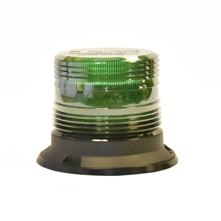 "126-67089G-8 <BR />5"" H.D. L.E.D. Green Warning Beacon Strobe"