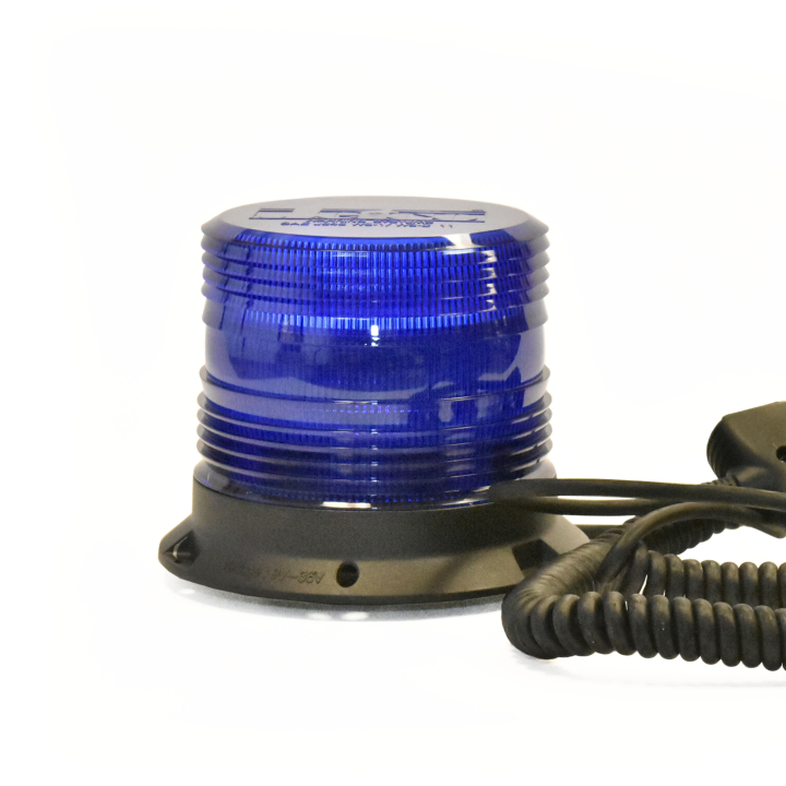 "126-67089MB-8 <BR />5"" H.D. L.E.D. Blue Warning Beacon Strobe &#8211; Magnetic"