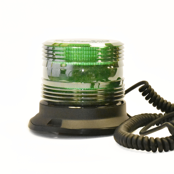 "126-67089MG-8 <BR />5"" H.D. L.E.D. Green Warning Beacon Strobe &#8211; Magnetic"