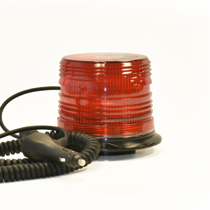 "126-67089MR-8 <BR />5"" H.D. L.E.D. Red Warning Beacon Strobe &#8211; Magnetic"