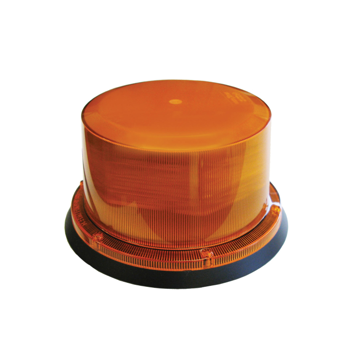 126-67144MA-8 <BR />3.5″ x 5″ L.E.D. Amber Programmable Strobe – Magnetic