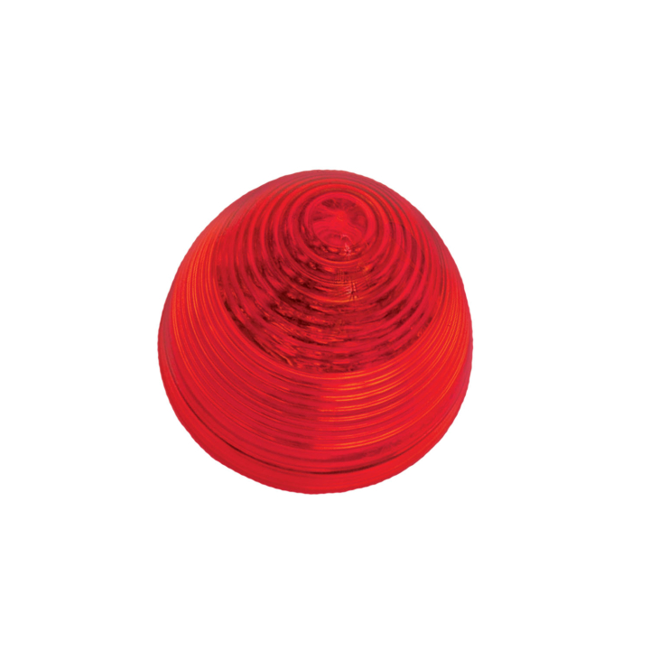 """127-10018R <BR /> 2"""" Red """"Beehive"""" L.E.D. Sealed Marker Lamp"""