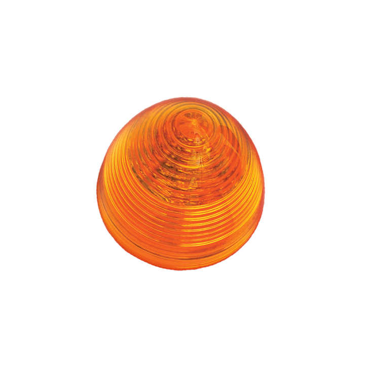 "127-10018A <BR /> 2"" Amber &#8220;Beehive&#8221; L.E.D. Sealed Marker Lamp"