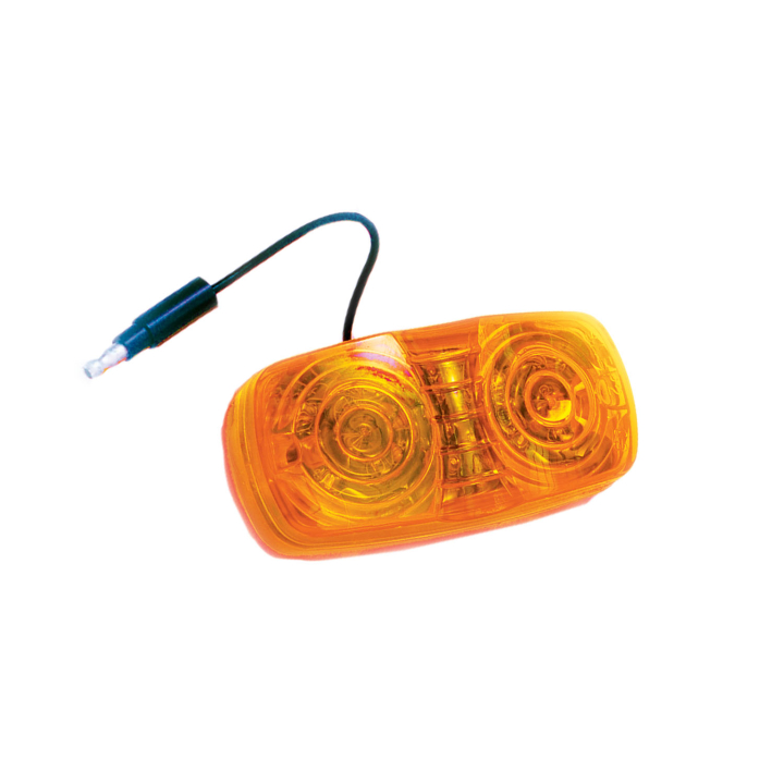 "127-10211A <BR /> 2"" x 4"" Double-Bubble L.E.D. Marker Lamp – Amber"