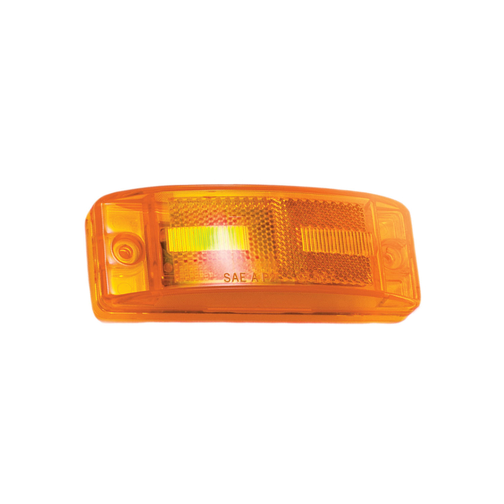 "127-11284A <BR /> 2"" x 6"" Turtle-back  L.E.D. Sealed Marker Lamp – Amber"