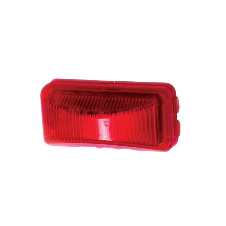 """127-15000RB (Bulk)<BR /> 1"""" x 2.5"""" Rectangular L.E.D.  Sealed Marker Lamp – Bulk Red"""