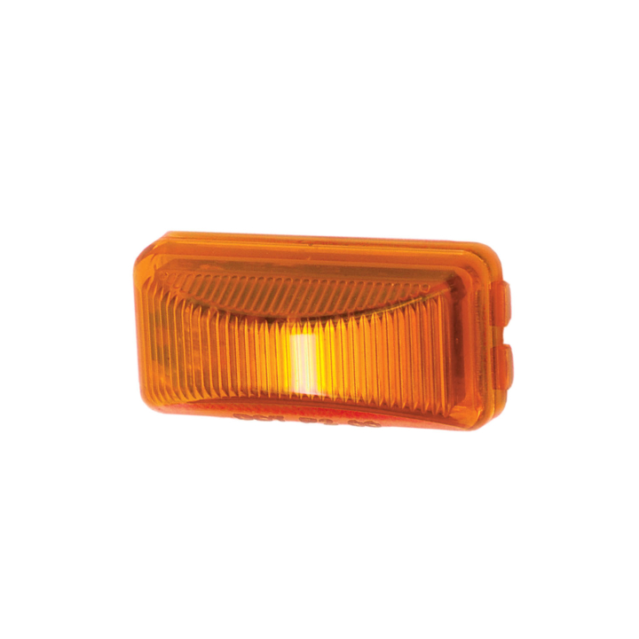 "127-15000AB (Bulk)<BR /> 1"" x 2.5"" Rectangular L.E.D.  Sealed Marker Lamp – Bulk Amber"